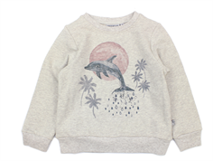 Wheat sweatshirt Dolphin and Palmtree kit melange