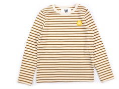 Wood Wood bluse Kim offwhite/camel stripes