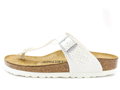 Birkenstock Gizeh sandal magic snake white