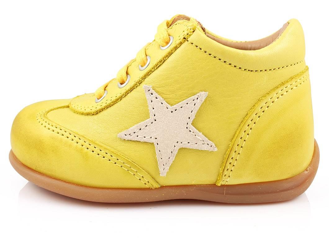 68e3d408 Bisgaard sko gul med velcro | 21409.115.80 Yellow | str. 21-25 | 549 ...