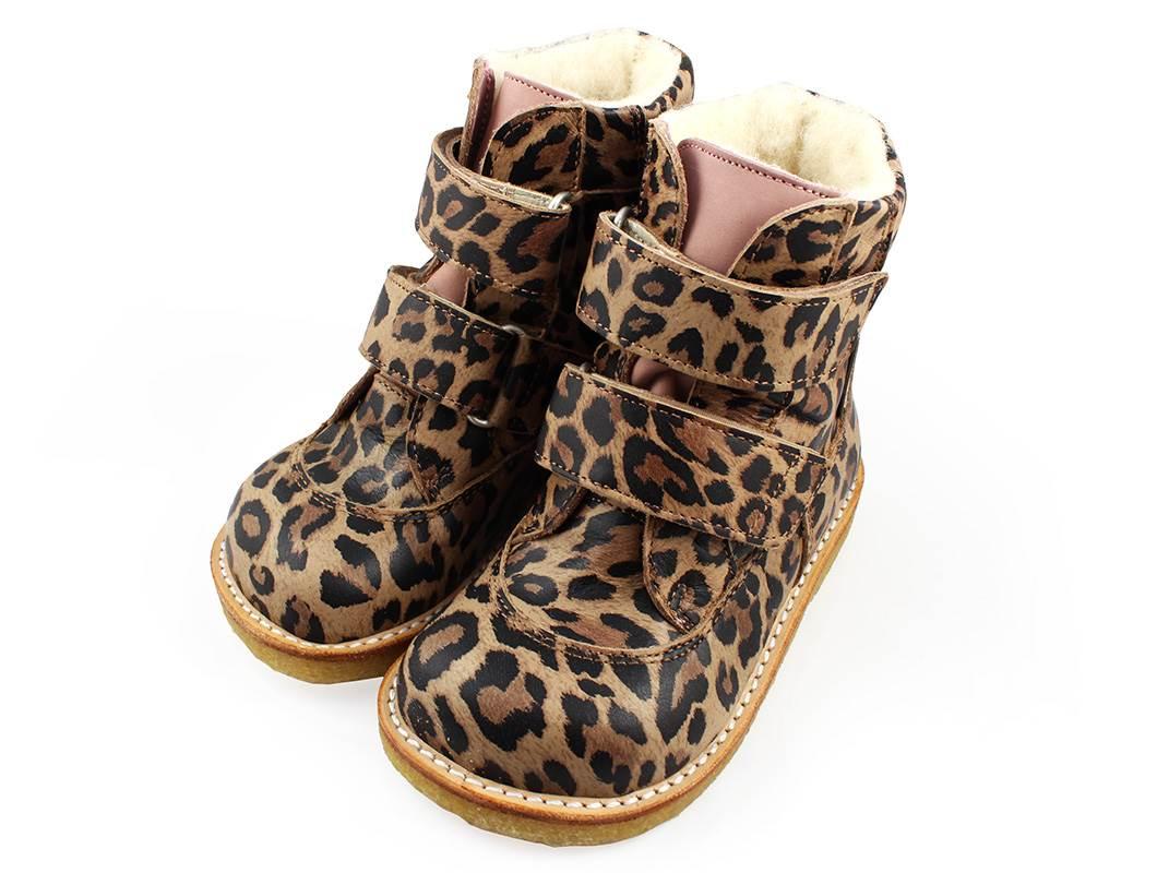 2aed7b400c77 Angulus vinterstøvle leopard med TEX