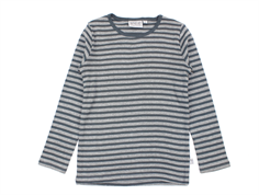 Wheat t-shirt melange grey striber