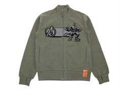 Wheat sweat cardigan Marvel melange army