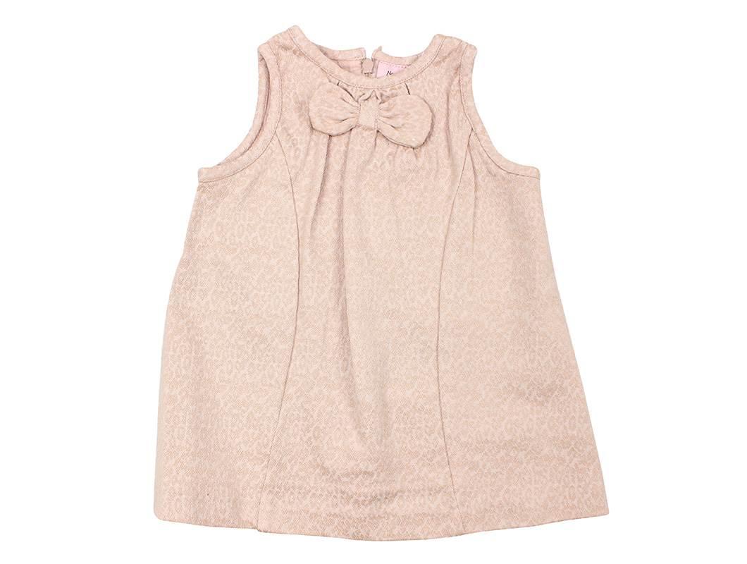 Noa Noa Miniature kjole rosa sløjfe | Baby jacquard light blush | Udsalg