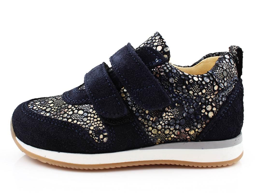 368284f797b Angulus sneaker blå sko cirkelmønster med velcro | 3256-101 | str ...
