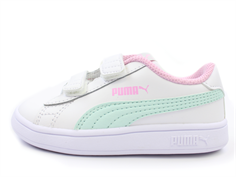Puma Smash sneaker white fair aqua pale pink
