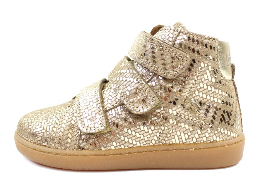 0e834e9d92a5 Bisgaard sneakers gold metal med velcro
