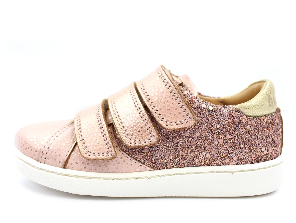 03ab44af1d2d Bisgaard sneakers blush glitter med velcro
