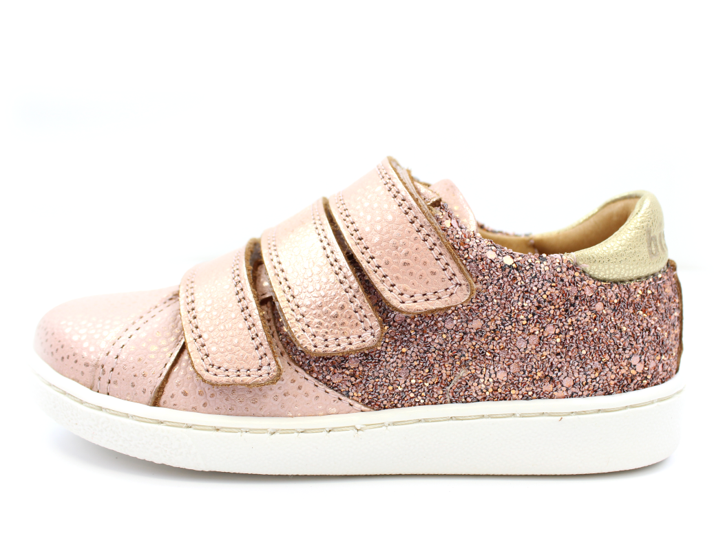 29be4bdd74d5 Bisgaard sneakers blush glitter med velcro