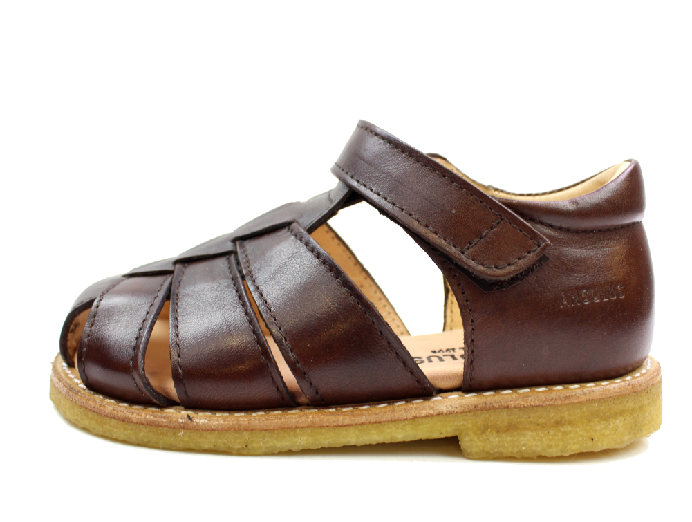 47434c05b1ef Angulus sandal brun læder klassisk