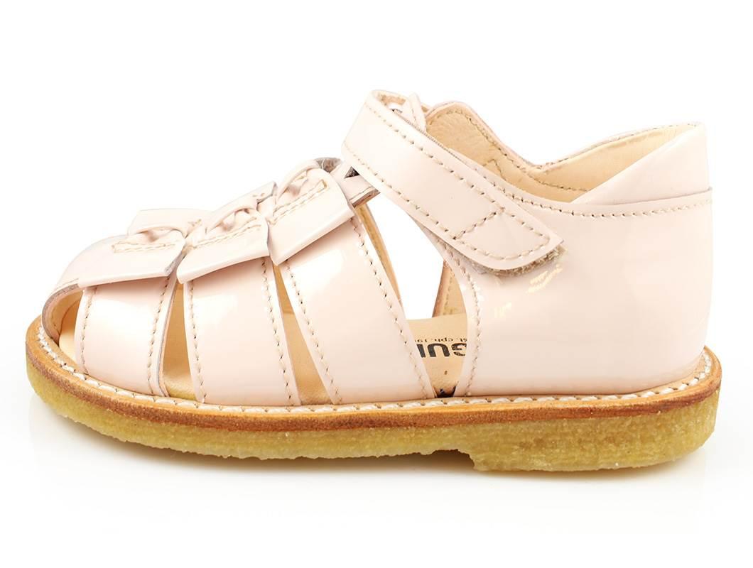 42d45733542d Berømte Angulus sandal lys rosa lak