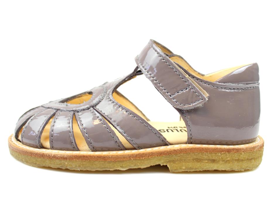 82825dc087ed Angulus sandal light grey lak med hjerte