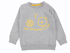 Small Rags sweatshirt neutral gray face