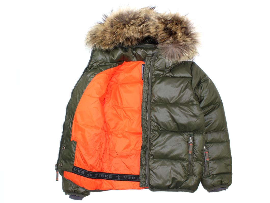 9ce19af0 Ver de Terre drengejakke pine/orange med pels | 620 856 pine/orange ...