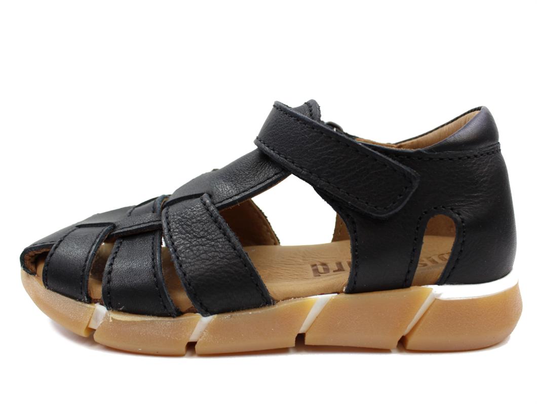 5c3bc1c086f Bisgaard smal sandal sort til drenge og piger | 70267.118 203 Black | str.  24-35 | UDSALG