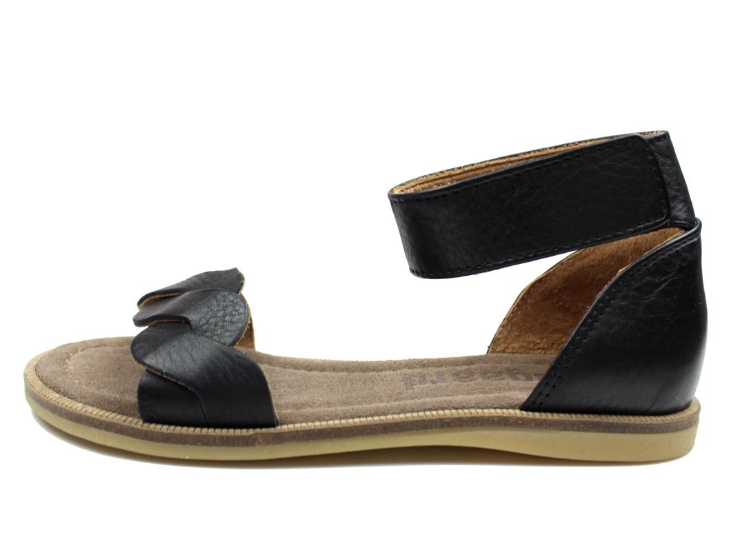 2b58142357a Bisgaard sandal sort med støtte til store piger | 71920.117 202 ...