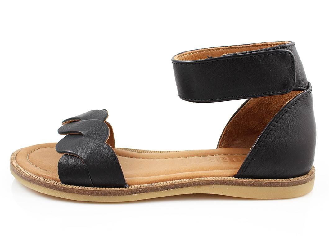 52473ed2a9c5 Bisgaard sandal sort med støtte til store piger