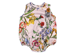 Christina Rohde babydragt/body rosa blomster