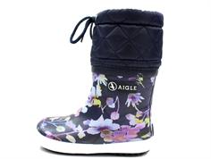 0e4761789148 Aigle Giboulee darkflower vintergummistøvle