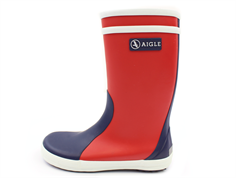 Aigle Lolly Pop gummistøvle rouge indigo blanc