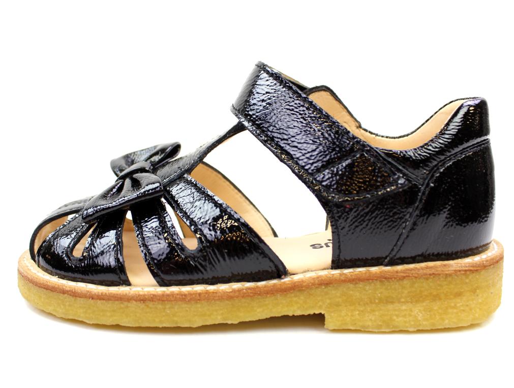 f911a6ee0ce Angulus sandal sort med sløjfe   0501 black   Udsalget er i fuld gang hos  MilkyWalk