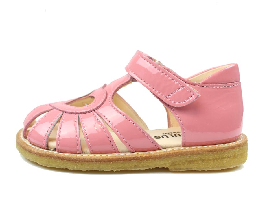 319c3472 Angulus sandal bright rose med hjerte | 5186 rosa lak/bubblegum ...
