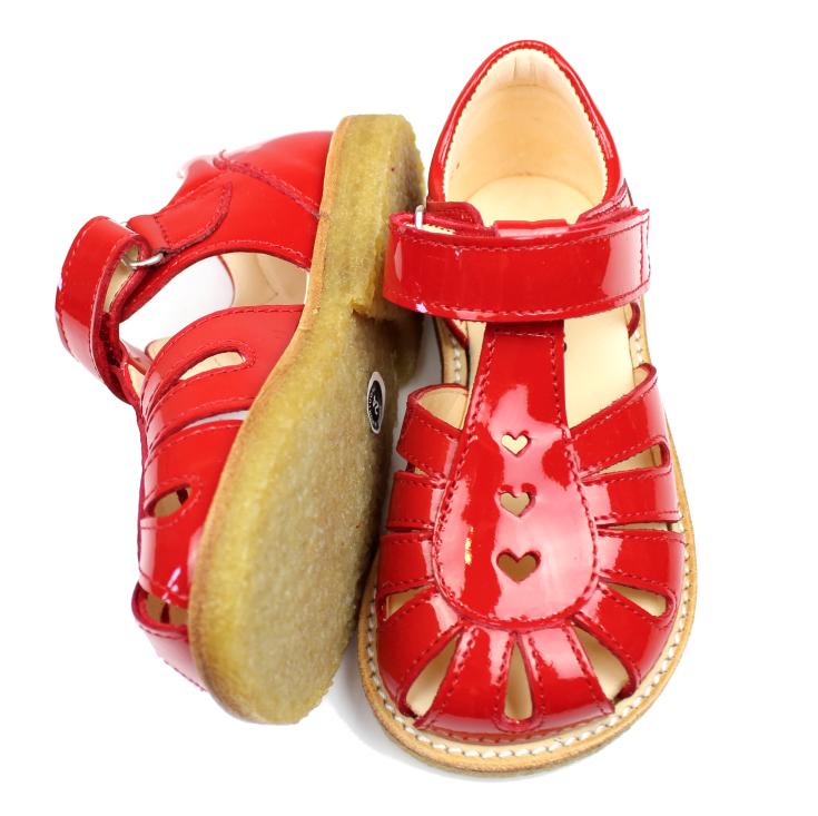 a936021f3a6e Angulus sandal rød lak med hjerter