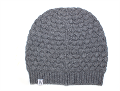Wheat hue Beanie dark melange grey