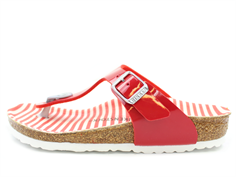 Birkenstock Gizeh sandal nautical stripes red med spænde