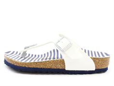 Birkenstock Gizeh sandal nautical stripes white med spænde