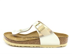 Birkenstock Gizeh sandal electric metallic gold med spænde (medium-bred)