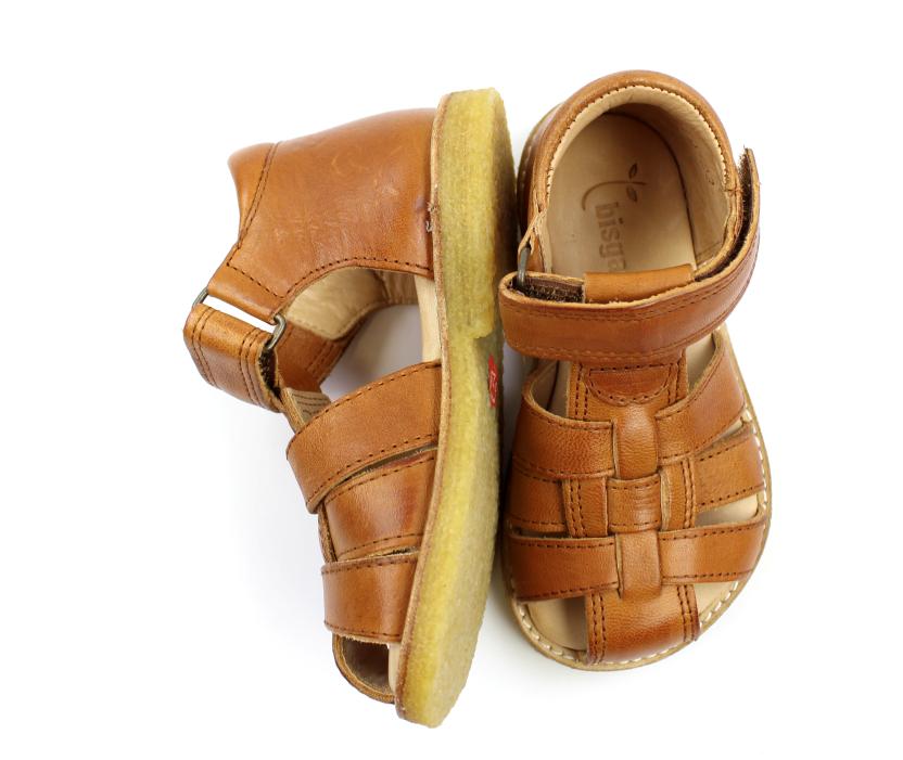 ecd13b1f8aeb Bisgaard sandal cognac med velcro