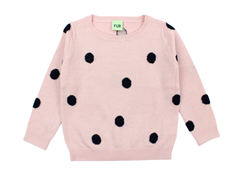 FUB bluse dot rose navy