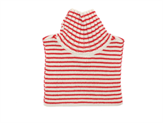 FUB halsvarmer stripes ecru uld red
