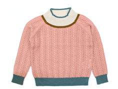 FUB strikbluse blush cable uld