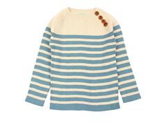 FUB sweater ecru/blue