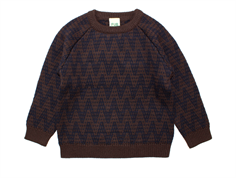 FUB sweater zigzag brown