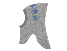 Huttelihut elefanthue light grey 3 blue stars uld