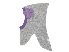 Huttelihut elefanthue light grey purple flower uld