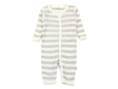 Joha jumpsuit stripe grey uld silke