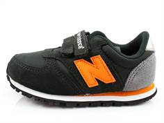 New Balance sneaker mørkegrøn/orange med velcro KE420ROY