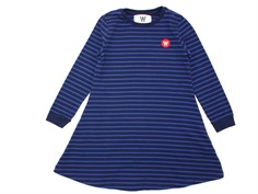Wood Wood kjole Aya navy/blue stripes