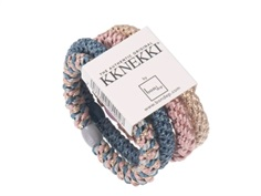 Kknekki hårelastikker light blue rose mix (4-pack)