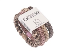 Kknekki hårelastikker rose grey mix (4-pack)