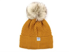 MP beanie Chunky Oslo golden spice fake fur pom pom