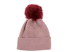 MP hue Chunky Oslo rose grey fake fur pom pom