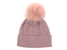 MP hue Chunky Oslo rose grey pelskvast pom pom