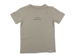 Mads Nørgaard t-shirt Thorlino roasted cashew embroidery