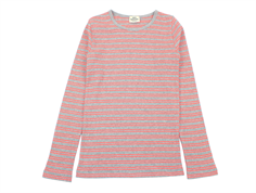 Mads Nørgaard t-shirt Talino grey/neon coral