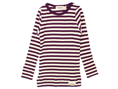 MarMar t-shirt modal purple night stripe